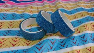BRAND NEW Sea Blue Glitter Washi Tape