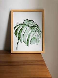 Monstera Plant Painting