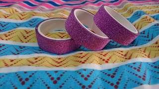 Brand New Purple Glitter Washi Tape