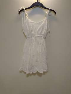 Babydoll White Lace Dress