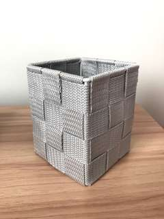 🚚 Gray Woven Stationery Holder