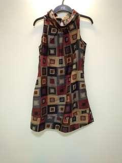 Vintage Origami Short Dress