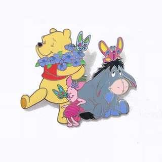 Disney Pin 迪士尼襟章 Winnie the Pooh 維尼小熊 - Butterflies Feast