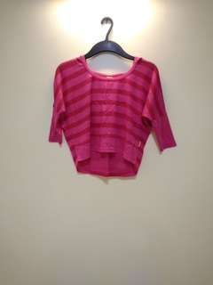 Hush Puppies Pink Batwing Crop Long Sleeves