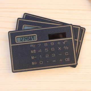 Mini Portable Card Sized Ultra Thin Solar Pocket Calculator