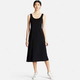 Uniqlo、連身裙、黑色裙子、裙、窄裙、運動裙