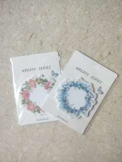 Wreath Series Post its