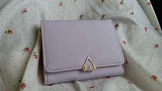 粉紫色短款銀包wallet