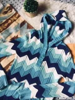 💛Blue Knitted Sweater
