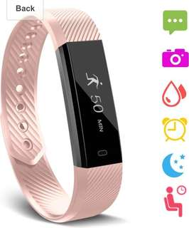 (3) fitness tracker (pink colour)