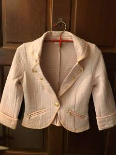 🚚 日本製 專櫃購入 粉色公主風七分外套