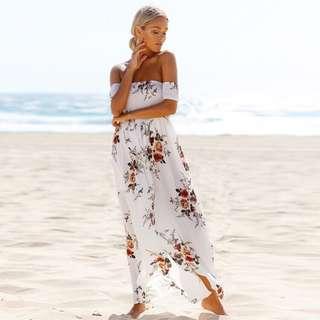 Flower Sabrina Dress