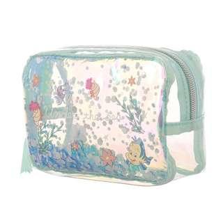 日本 Disney Store 直送 Twinkle 系列 The Little Mermaid 小魚仙 Flounder 小胖化妝袋 / 雜物袋