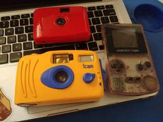 Analog cameras and gameboy color