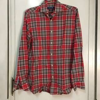 Massimo Dutti Ree Checkered Long Sleeve Polo