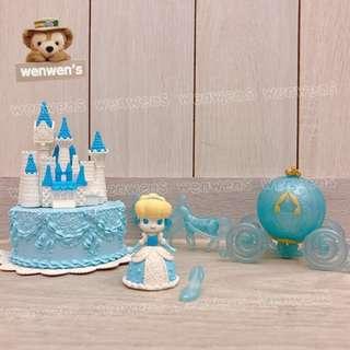 【wenwens】代理 日本 正版 Banpresto 仙杜瑞拉 灰姑娘 城堡 蛋糕 馬車 玻璃鞋 場景組 公仔 A+B