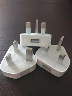 Apple iPhone $100/3 原裝 叉電 插頭