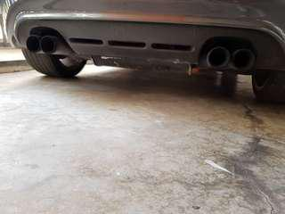 Gti mk5 ABT quad exhaust with cert