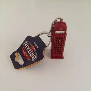 London Telephone Booth Keychain