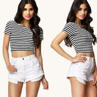 Forever21 stripe cropped top
