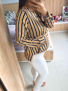 Stripes Wrap Blouse