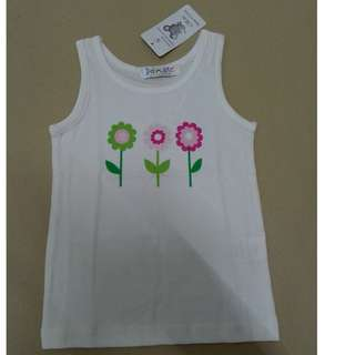 (WJ 0147) New Doomagic Gal Singlet - Flowers