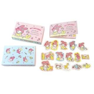 Sanrio 日本製 My Melody Memo Note Pad 連貼紙45張