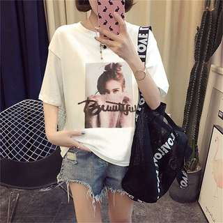 * Pre Order * Beautiful Girl Basic Logo Short Sleeve Top Tee
