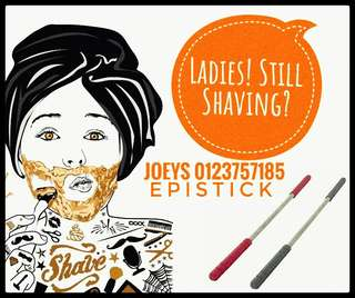 Epistick face hair removal