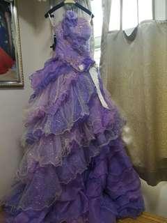 婚紗晚裝 紫色晚裝 結婚 禮服 日系 宮廷Style