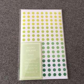 Round sticker - green