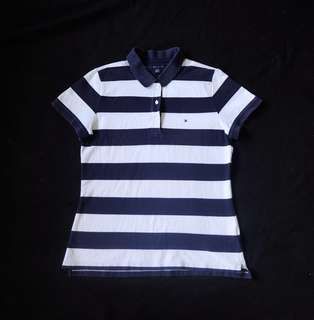 Authentic Tommy Hilfiger Womens Pique Nautical Polo Shirt