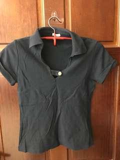 🚚 日本製專櫃購入 藍色設計polo衫
