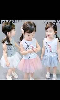 🚚 [Preorder] Unicorn Dress for Girls
