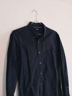 Uniqlo Navy Blue Shirt