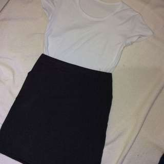 Dark Gray Korean Style Skirt
