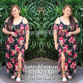NEW! SOPHIA PLUS SIZE MAXI DRESS (BN/PREORDER)