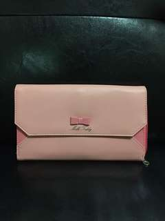 Dompet panjang milk teddy pink new