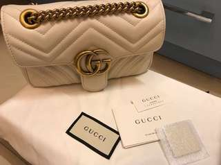 Gucci marmont Small ivory