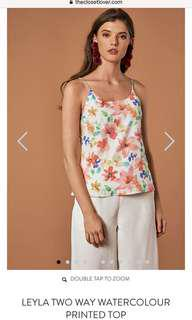 BNWT The Closet Lover Leyla Watercolour Two Way Printed Top