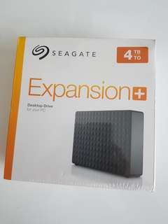 Seagate Expansion Plus 4TB external USB 3.0 harddrive BNIB