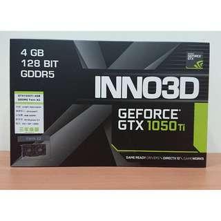 限時下殺!!【全新未拆封】高CP值 映眾 INNO3D GTX 1050Ti 4GB GDDR5 TWIN X2 顯示卡