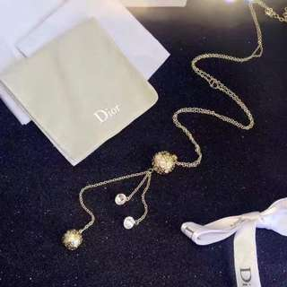 Dior long chain necklace