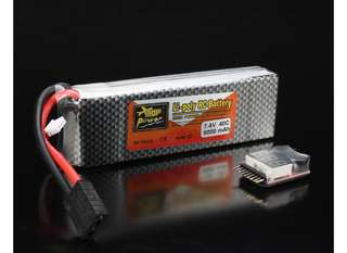4🔥💥Last 02set💥Rechargeable Lipo Battery ZOP Power 7.4V 8000mAh 2S 40C Lipo Battery For TRX Plug With Battery Alarm For Traxxas