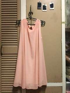 custom-made rose gold/peachy pink glittery dress (small to medium) good as new