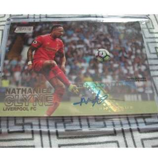 Nathaniel Clyne Topps Stadium Club 16/17 Liverpool Base Autograph Card