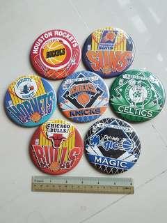 Official 90s NBA pins 9cm         #sam2