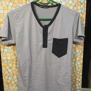 SM Men's club basic gray shirt