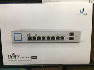 Ubiquiti US-8-150W 8-port Managed POE+ Gigabit Switch with 2 SFP