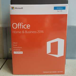 OFFICE 2016 HOME AND BUSINESS RETAIL PACKAGE (READY STOCKS AND BULK AVAILABLE)